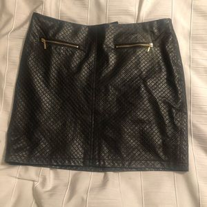 Faux Leather Mini Skirt by Cynthia Rowley Size 4